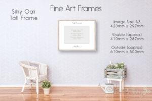 Silky Oak Tall Frame